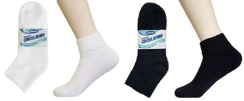 Ponce 3 6 12 Pairs Mens Womens Circulation Diabetic Anklet Socks Lot Buruka 9-11 10-13