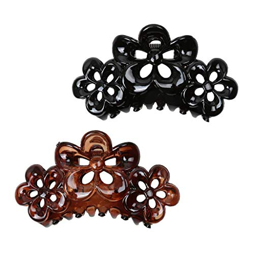 2pcs Large Flowers Ladies Large Hair Claw Clamps