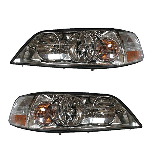 - Headlights Headlamps Left & Right Pair Set for 03-04 Lincoln Town Car