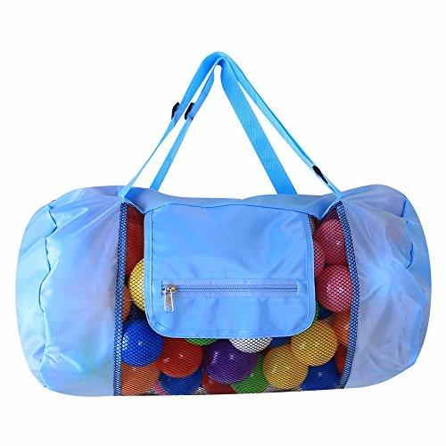 Tirando de la cuerda de la bolsa, bolsa de playa para niños al aire libre,Rosa Roja Azul Cielo