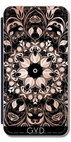 Funda Carcasa Cubierta de PU Cuero para Huawei P10 - El Cobre Negro Mandala Floral by Nina Baydur