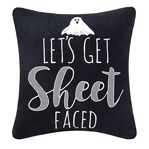 Let's Get Sheet Faced Ghost Halloween Throw Pillow