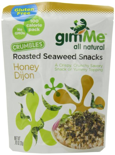 UPC 851093004228, gimMe Snacks All Natural Roasted Seaweed Crumbles, Honey Dijon, 0.7 Ounce (Pack of 12)