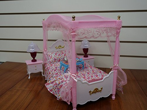 Huaheng Toys Barbie Size Dollhouse Furniture, Master Bed Room Set