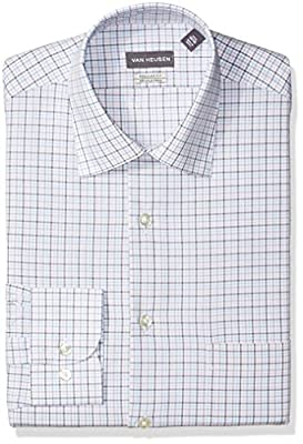 Van Heusen Men's Dress Shirt Regular Fit Plaid