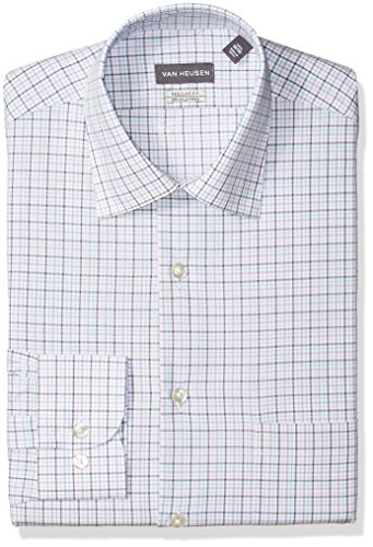 Van heusen men 39 s pincord regular fit solid spread collar for Van heusen men s regular fit pincord dress shirt