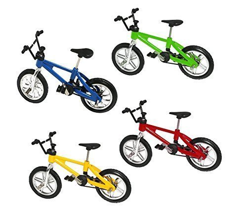 UChic 5PCS Finger Alloy Bicycle Model Mini MTB BMX Fixie Bike Boys Toy Creative Game Gift Color Random