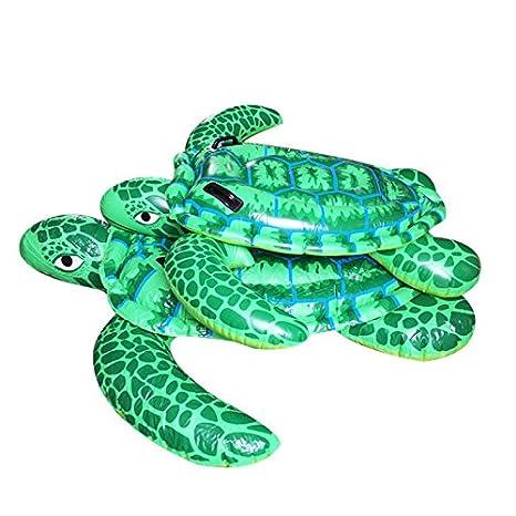 Montajes de crías de tortuga llenan de juguete inflable del agua flotante aire adulto fila cama flotante , green , 195: Amazon.es: Juguetes y juegos