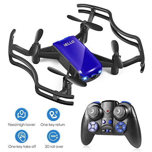 Mini Air Drone for Kids, Quadcopter Drone with Altitude Hold, Headless Mode One Key take Off/Landing, Blue&Black Drones for Boys/Girls