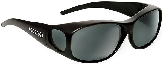 cb4c9c7a85 Jonathan Paul Fitovers Element Medium Polarized Over Sunglasses   Matte- Black   Polarvue Gray