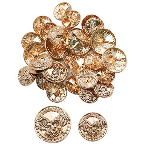 JETEHO 30Pcs Vintage Gold Metal Blazer Button Set for Suits, Blazer,Jacket ()