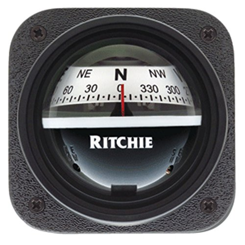Explorer Bulkhead (Ritchie V-537W Explorer Compass - Bulkhead Mount - White Dial Marine , Boating Equipment)