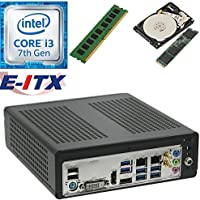 E-ITX ITX350 Asrock H270M-ITX-AC Intel Core i3-7100 (Kaby Lake) Mini-ITX System , 4GB DDR4, 480GB M.2 SSD, 1TB HDD, WiFi, Bluetooth, Pre-Assembled and Tested by E-ITX