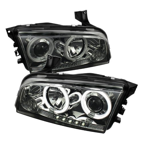Spyder Auto PRO-YD-DCH05-CCFL-SM Dodge Charger Smoke CCFL LED Projector Headlight with Replaceable LEDs