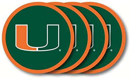 Miami Hurricanes Official NCAA Coaster Set by Duck House