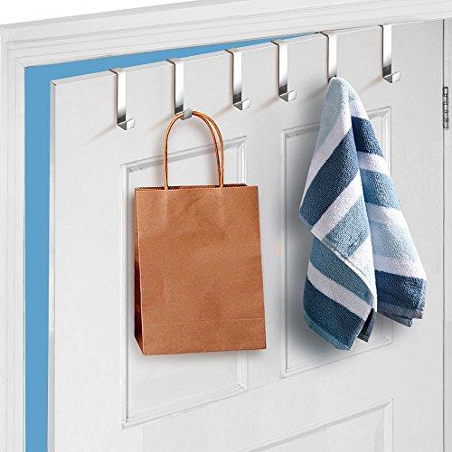 Yahee Türhaken Türhänger Kleiderhaken Badezimmerhaken Garderobenhaken aus Edelstahl 6er Set