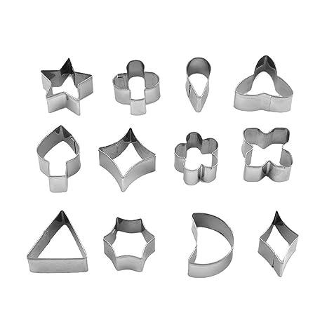 UPKOCH 12 moldes cortadores de galletas de acero inoxidable ...