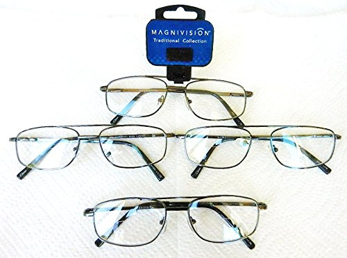 Magnivision 1.50 Aviator Style BIFOCALS Traditional Clear R
