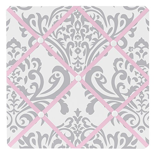 Sweet Jojo Designs Pink, Gray and White Elizabeth Fabric Memory/Memo Photo Bulletin Board by Sweet Jojo Designs