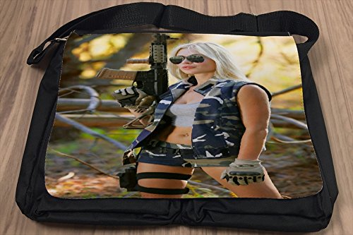 Borsa Tracolla Pin Up Art Adulti Militare Stampato