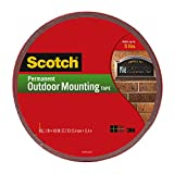 Office Products : Scotch Permanent Outdoor Mounting Tape, 1 Inch x 450 Inches (4011-LONG)