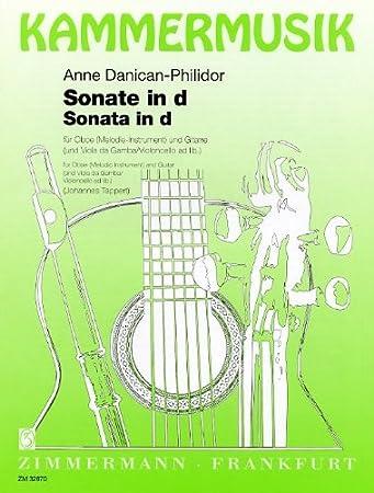 Anne Danican-Philidor: Sonata D en menor. Partituras para Oboe ...