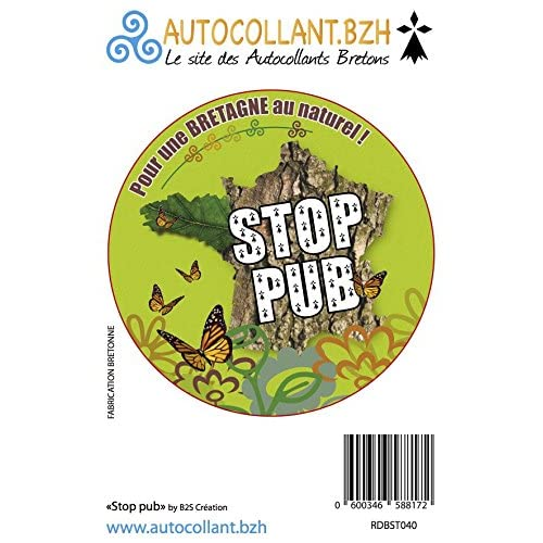 on sale Autocollant Stop Pub la Bretagne au Naturel