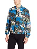 Just Cavalli Men's Printed Bomber Jacket, 486S Blue Variant, 54/X-Large