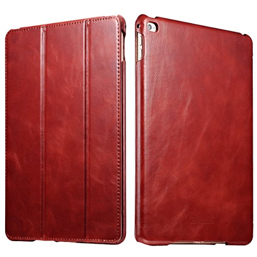 iPad Air 2 Case, [Vintage Classic Series] [Genuine Leathe...