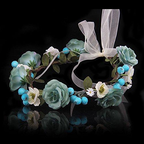 Olici Headdress Accessories/Hair Pins/Party/Prom/Bride/Girls Fashion Flowers Freshness Wreath Head Ornament Decoration Emulation Cloth Flower B Hair Ornaments