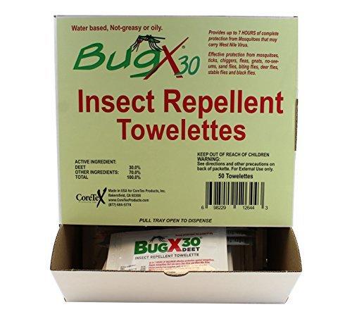 Pepsi BugX CT12644 Insect Repellent Towelette, .27 oz, 50...