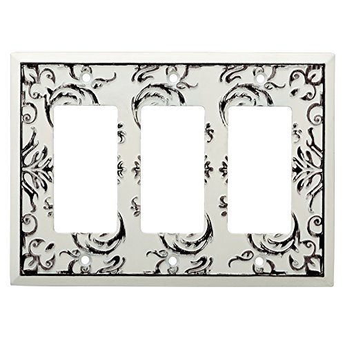 Liberty Hardware Fairhope Triple Decorator Wall Plate Whi...
