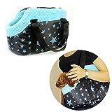 Geekercity Portable Small Medium Pet Dog Puppy Cat Travel Outdoor Carrier Carry Tote Bag Handbag Purse (Blue)