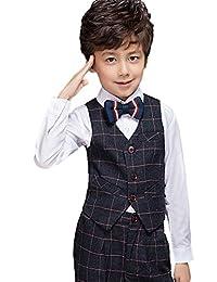 SK Studio Boys' 5 Piece Classic Slim Fit Formal Suits