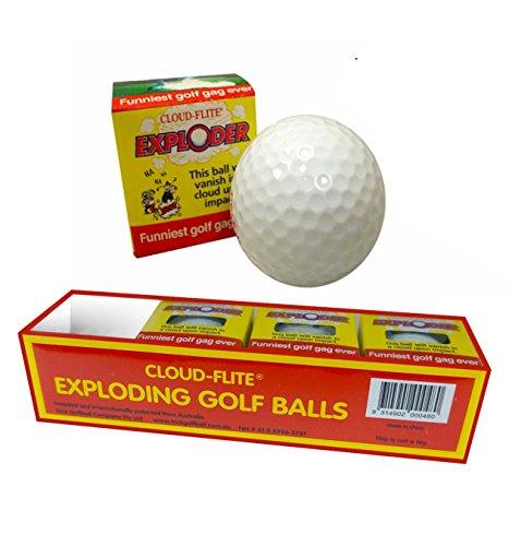 JP Lann Golf Cloud Flite Exploder Golf Ball 4-Pack , White, Standard Size