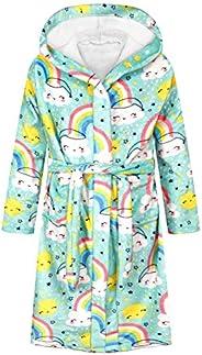 JinBei Kids Dressing Gown Bathrobe Hooded Super Soft Sleepwear, Age 4-12 Years.