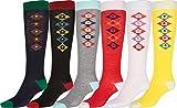 Sakkas Ladies Cute Colorful Design or Solid Knee High Socks Assorted 6-Pack