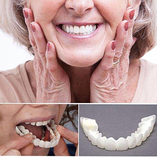 Amazing Instant Smile Cosmetic-Aolvo Teeth Cosmetic Veneer New Instant Smile Temporary Tooth Kit Comfort Fit Flex Cosmetic Teeth Denture Care Teeth Top Venee