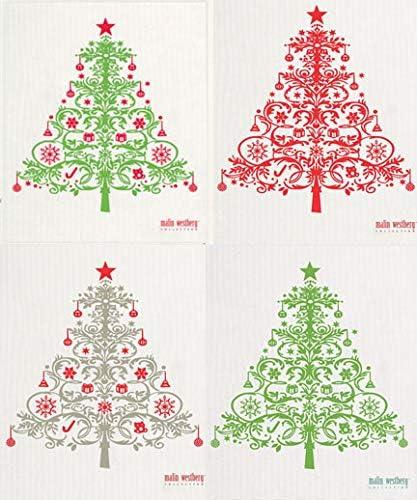 Swedish DishclothMade in SwedenHoliday Christmas Tree DesignMany colors