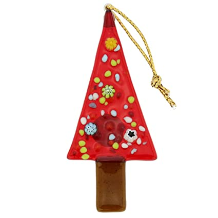 GlassOfVenice Murano Glass Christmas Tree Ornament - Red - Amazon.com: GlassOfVenice Murano Glass Christmas Tree Ornament - Red