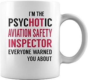PsycHOTic Aviation Safety Inspector Job Title Mug - Coffee Mug (White)