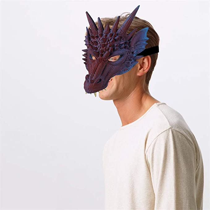 Amazon.com: Máscara 3D de Halloween para disfraz de dragón ...