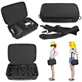 Dreamyth For DJI Tello Drone Waterproof Portable Shoulder Bag Body/Battery/Remote Controller Handbag Carrying Case Black