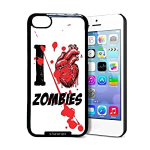 Shawnex I Heart Love Zombies iPhone 5C Case - Thin Shell Plastic Protective Case iPhone 5C Case