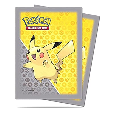 Ultra Pro Trading Card Supplies Deck Protectors - Pikachu (Gray Border) (65 Pack), Yellow/Grey: Toys & Games