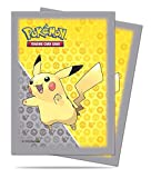 65 Ultra Pro PIKACHU POKEMON Deck Protectors Sleeves Grey Yellow Standard Size MTG