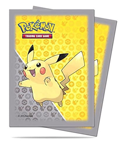 Amazon 65 ultra pro pikachu pokemon deck protectors sleeves 65 ultra pro pikachu pokemon deck protectors sleeves grey yellow standard size mtg m4hsunfo