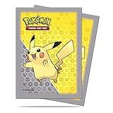 65 Ultra Pro Pikachu Pokemon Deck Protectors Sleeves Grey Yellow Standard Size MTG