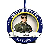 GiftsForYouNow Personalized US Air Force Photo Frame Ornament, 3.5'' x 3.5'', Resin