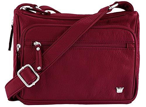 Purse King Magnum Concealed Carry Handbag (Burgundy)
